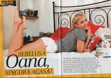 Bebelusa Oana in revista Diva