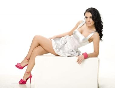 Andreea Mantea in sandale