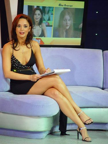Andreea Marin in sandale