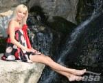 Diana Dumitrescu in picioarele goale